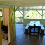Voici la pièce principale, elle sépare la maison en 2 parties ce qui permet à chacun de rester indépendant.