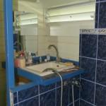 Petite salle de bain attenante : WC, lavabo et douche.